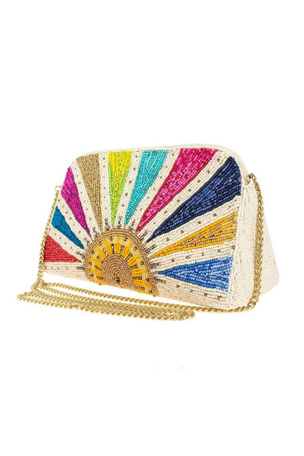 Mary Frances Rise and Shine Beaded Crossbody Clutch  - Other Side
