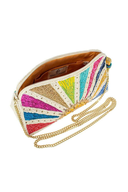 Mary Frances Rise and Shine Beaded Crossbody Clutch  - Inside