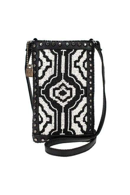 Mary Frances Going Native Beaded Crossbody Phone Purse - Front