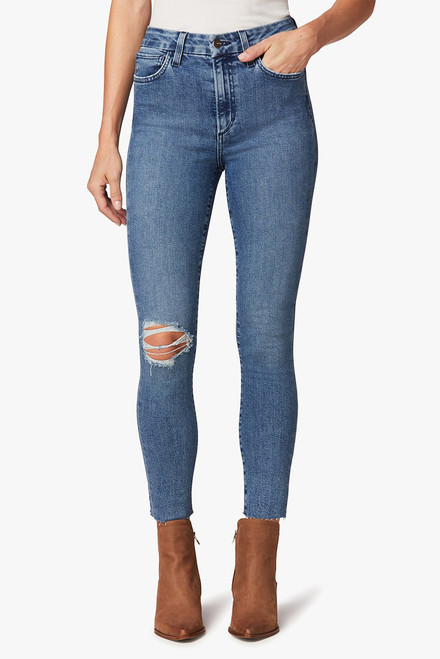 Joe's The Hi Honey Distressed Cropped Jeans - Front