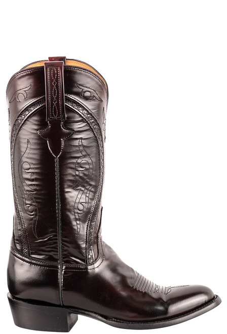 Lucchese Men's Black Cherry Gavin Cowboy Boots - Side
