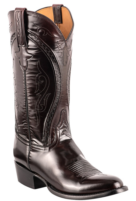 Lucchese Men's Black Cherry Gavin Cowboy Boots - Angle