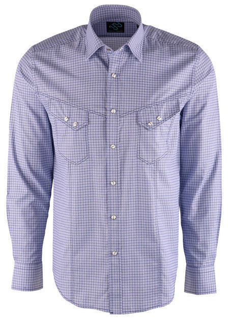 Pinto Ranch YY Collection Blue Starlight Snap Shirt - Front