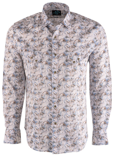 Pinto Ranch YY Collection Faded Paisley Print Shirt - Front