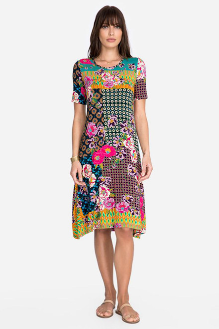Johnnie Was Maggie Swing Knit Dress - Front