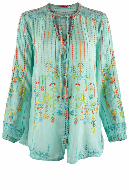 Johnny Was Stitch Blouse  - Front
