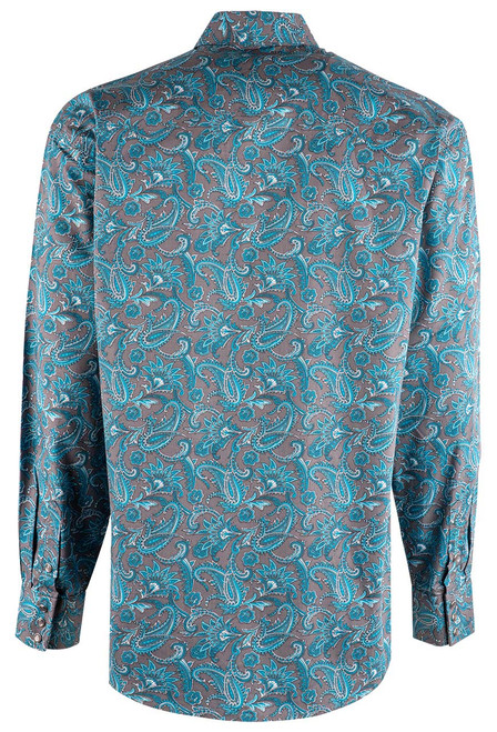 Stetson Blue Silver Springs Paisley Snap Shirt - Back