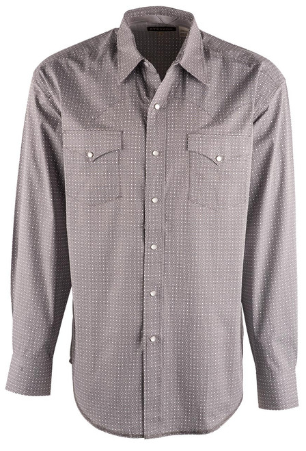Stetson Grey Square Geo Snap Shirt - Front