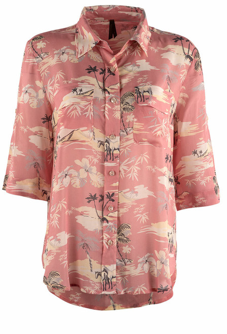Stetson Apparel Beach Ride Camp Blouse - Front