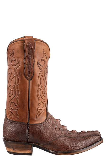 Black Jack Exclusive Brown Snapping Turtle Boots - Side