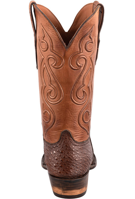 Black Jack Exclusive Brown Snapping Turtle Boots - Back