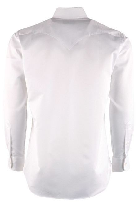 Pinto Ranch YY White Solid Pique Shirt - Back