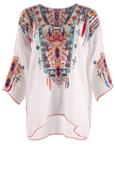 Johnny Was Rangoon Blouse - Front 1