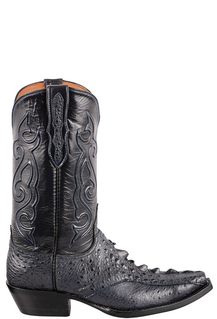 Black Jack Exclusive Navy Snapping Turtle Boots - Side