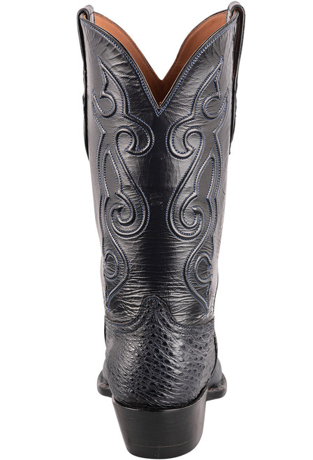 Black Jack Exclusive Navy Snapping Turtle Boots - Back