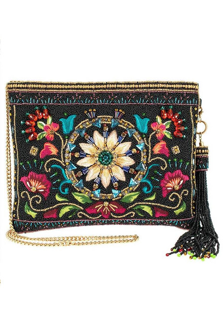 Mary Frances Valley of the Flowers Crossbody Clutch - Front