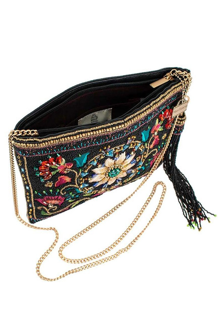 Mary Frances Valley of the Flowers Crossbody Clutch - Open