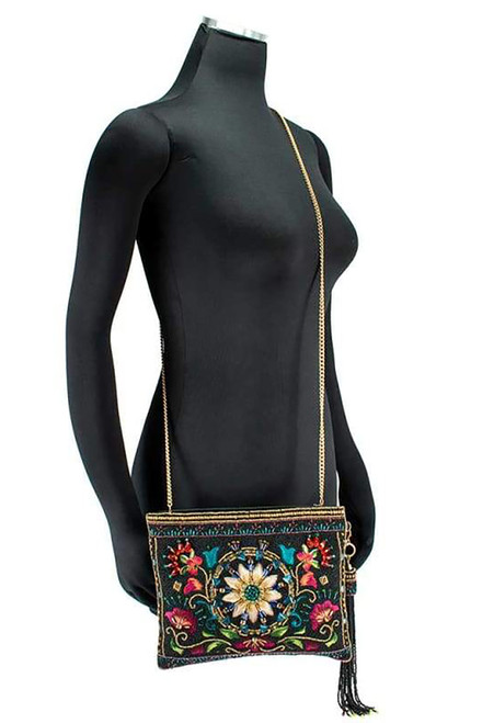 Mary Frances Valley of the Flowers Crossbody Clutch - Model