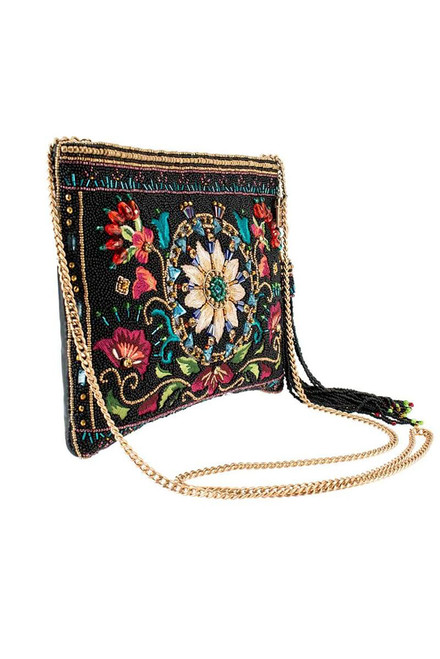Mary Frances Valley of the Flowers Crossbody Clutch - Side