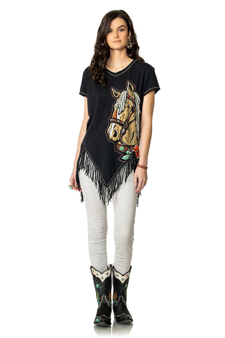 Double D Ranch Pony Pal Fringe Top - Front