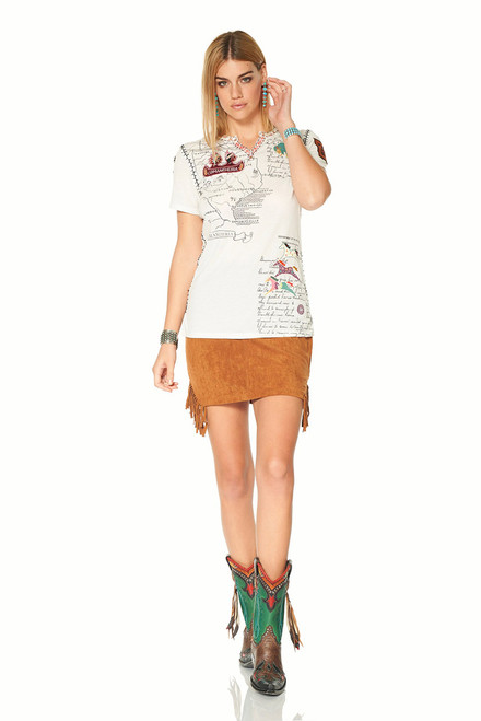 Double D Ranch High Plains Tee - Front Model