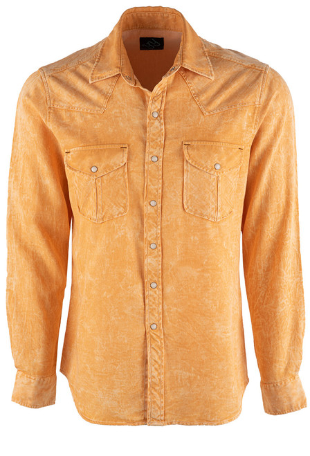 Pinto Ranch YY Collection Gold Shaded Twill Snap Shirt - Front