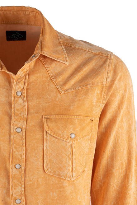 Pinto Ranch YY Collection Gold Shaded Twill Snap Shirt