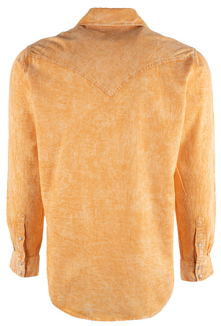 Pinto Ranch YY Collection Gold Shaded Twill Snap Shirt - BAck