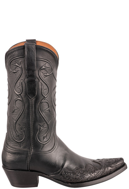 Black Jack Exclusive Ranch Hand Tooled Wingtip Boots - Side