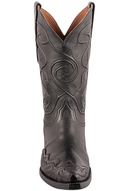 Black Jack Exclusive Ranch Hand Tooled Wingtip Boots - Front