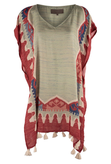 Double D Ranch Love The World Away Poncho - Front