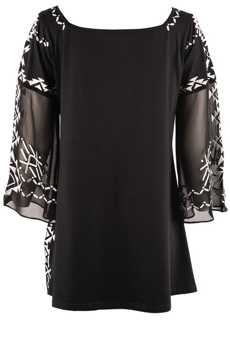 Vintage Collection Princess Black Embroidered Tunic - Back