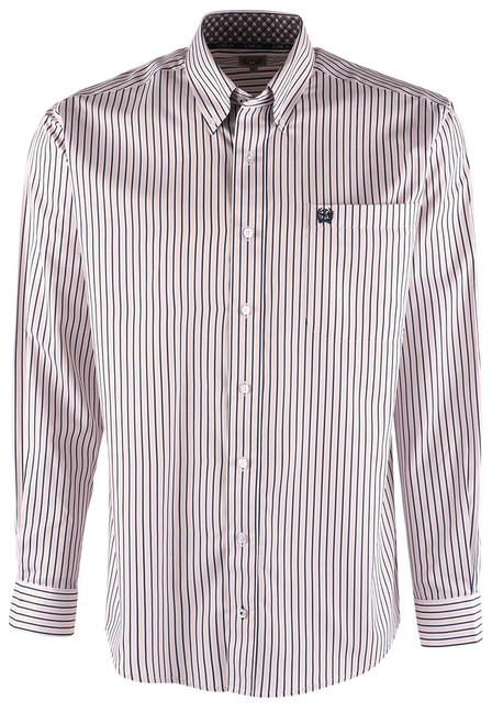 Cinch Pink and Blue Striped Shirt - Front