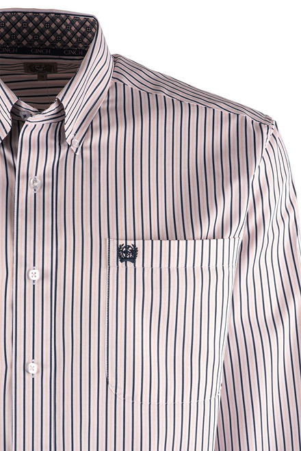 Cinch Pink and Blue Striped Shirt