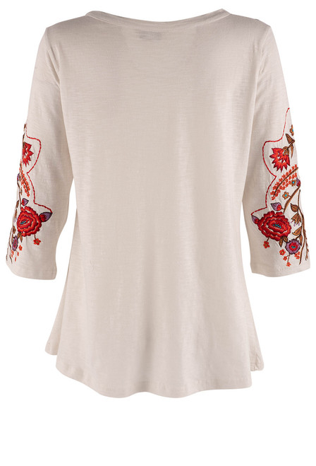 Vintage Collection Cargo Embroidered White Top - Back