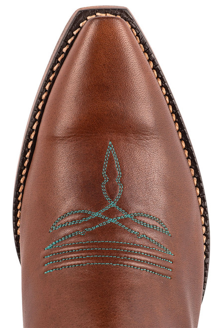 """Lucchese 15"""" Tulip Chocolate Cowboy Boots - Toe"""