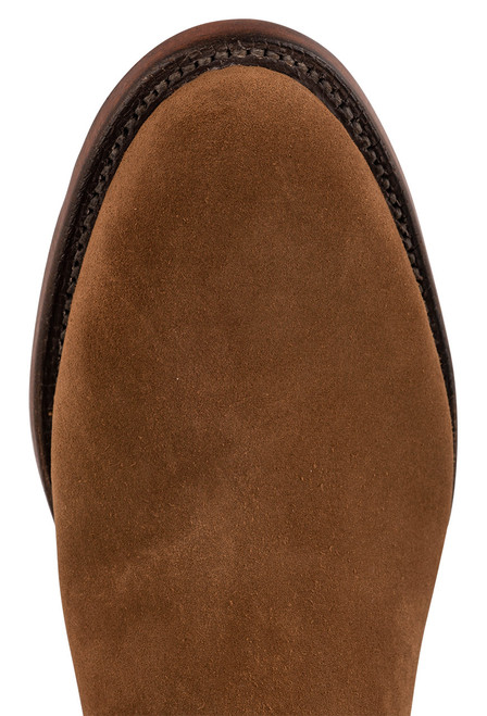 """Lucchese Men's Jonah 7"""" Espresso Suede Roper Boots - Toe"""