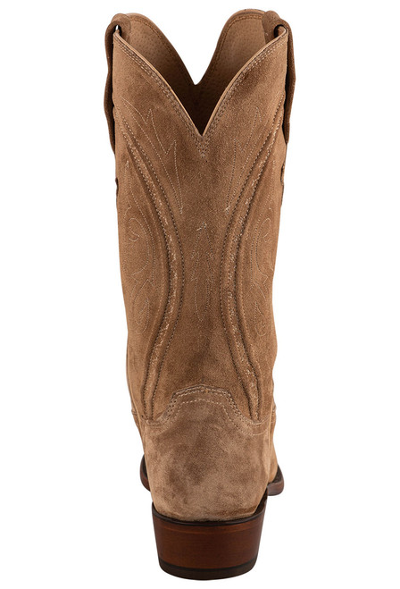 """Lucchese Men's Jessie 12"""" Tan Suede Boots - Back"""