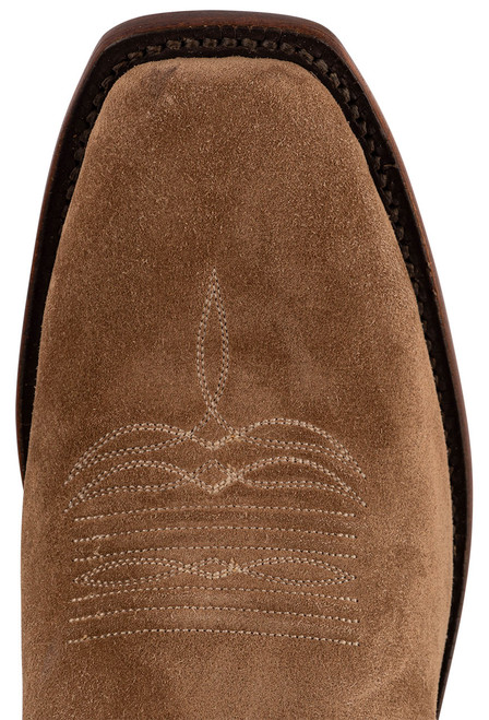 """Lucchese Men's Jessie 12"""" Tan Suede Boots - Toe"""