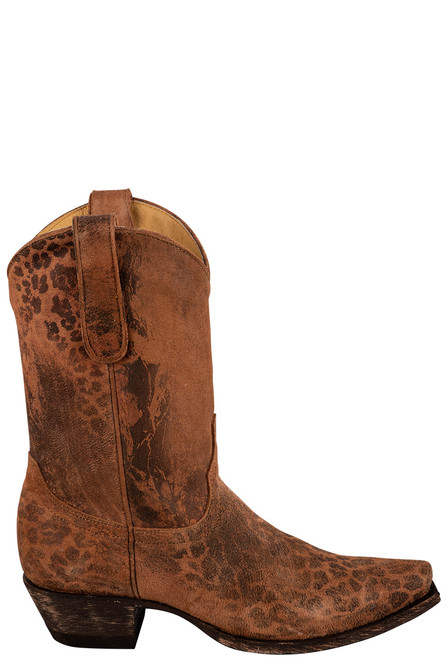 """Old Gringo 10"""" Leopardito Ochre Boots - Side"""