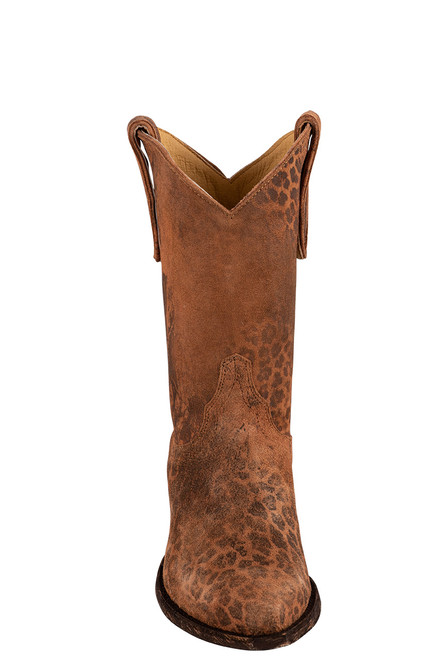 """Old Gringo 10"""" Leopardito Ochre Boots - Front"""