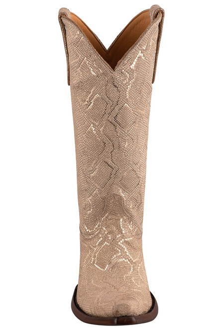 """Old Gringo 13"""" Cersei Gold Snakeskin Boots - Front"""