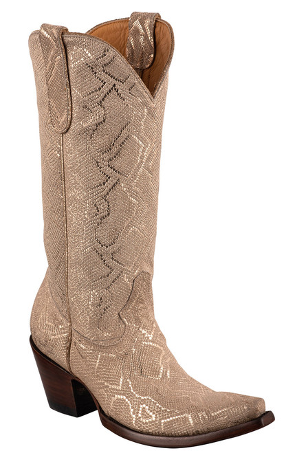"""Old Gringo 13"""" Cersei Gold Snakeskin Boots"""