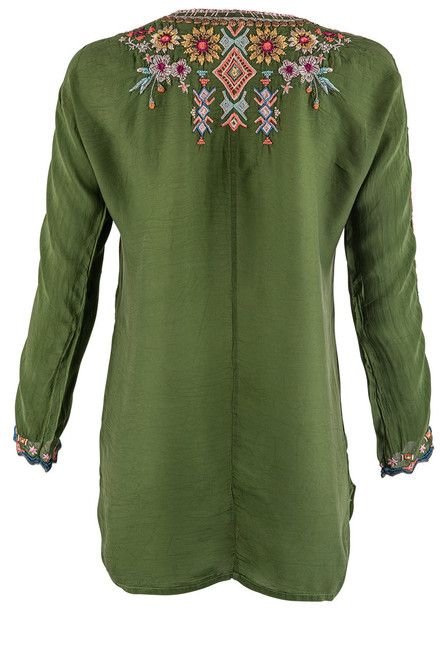 Johnny Was Sunflower Embroidered Tunic - Back