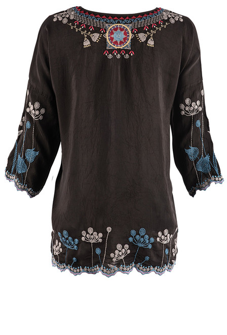 Johnny Was Carousel Embroidered Blouse - Back