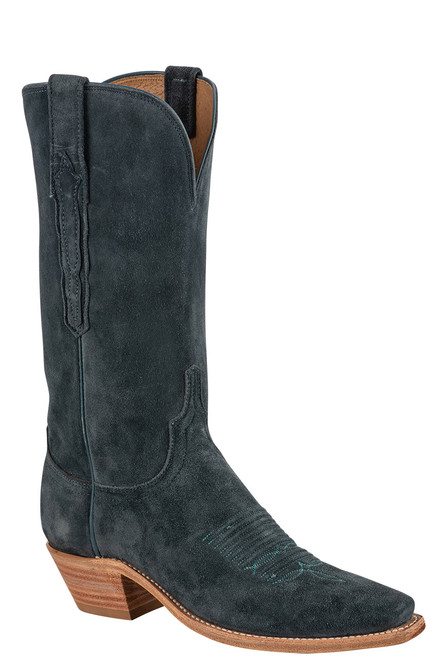 """Lucchese Women's Eleanor 12"""" Turquoise Suede Boots"""