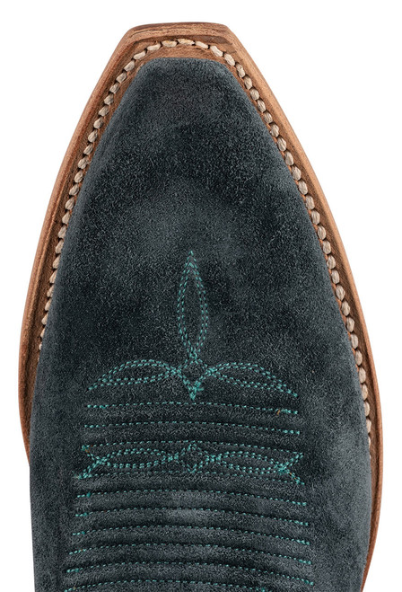 """Lucchese Women's Eleanor 12"""" Turquoise Suede Boots - Toe"""
