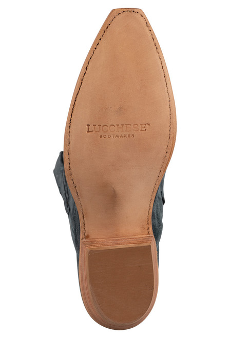 """Lucchese Women's Eleanor 12"""" Turquoise Suede Boots - Heel"""