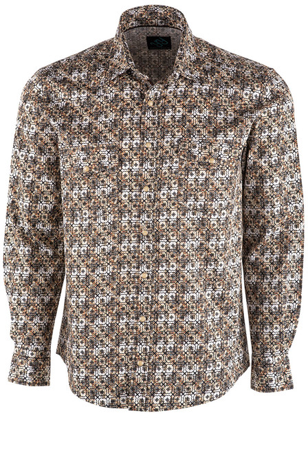 Pinto Ranch YY Collection Foulard Stack Print Shirt - Front