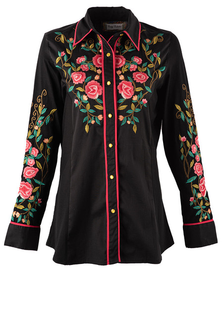 Vintage Collection Spruce Embroidered Western Shirt  - Front
